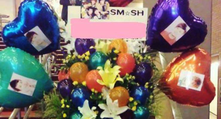 神戸文化ホールで行われたSM☆SHのライブにスタンド花配達しました!