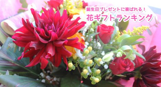誕生日プレゼントに喜ばれる花ギフトランキング