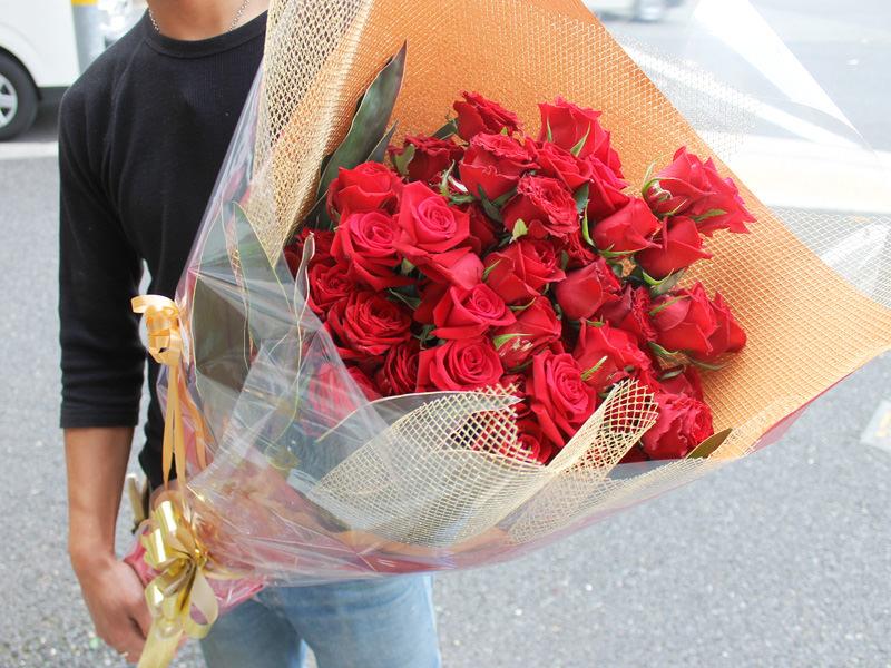 バラの花束 赤・ピンク