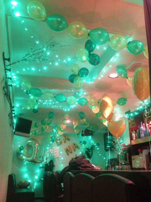 緑系バルーン装飾